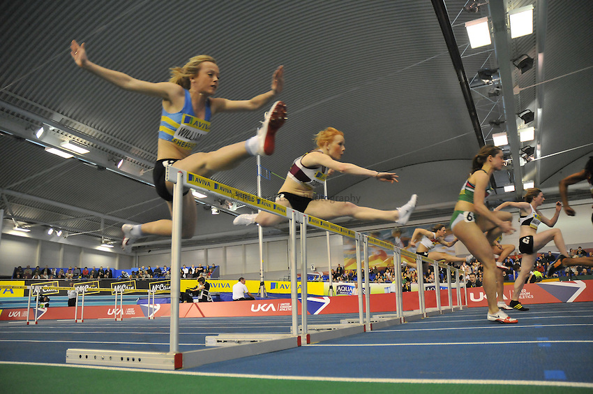 Photo: Tony Oudot/Richard Lane Photography. Aviva World Trials & UK Championships. 14/02/2010. .Womens 60m Hurdles..