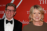 Michael George, President and CEO of QVC and Martha Stewart arrive at The Fashion Group International's Night of Stars 2017 gala at Cipriani Wall Street on October 26, 2017.