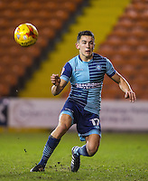 Luke O'Nien of Wycombe Wanderers during the The Checkatrade Trophy match between Blackpool and Wycombe Wanderers at Bloomfield Road, Blackpool, England on 10 January 2017. Photo by Andy Rowland / PRiME Media Images.