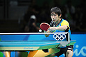 Koki Niwa (JPN), <br /> AUGUST 9, 2016 - Table Tennis : <br /> Men's Singles Quarter-final <br /> at Riocentro - Pavilion 3 <br /> during the Rio 2016 Olympic Games in Rio de Janeiro, Brazil. <br /> (Photo by Yohei Osada/AFLO SPORT)