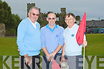 PAST& PRESENT: John Rowan,Mike Keane and George Nash past & present capts of Castlegregory Golf Club playing in the Co Kerry Federation Golf Tourment at Ballyheigue Golf Club on Saturday morning.....