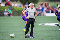 Allston, MA - Sunday July 31, 2016: Tom Sermanni prior to a regular season National Women's Soccer League (NWSL) match between the Boston Breakers and the Orlando Pride at Jordan Field.