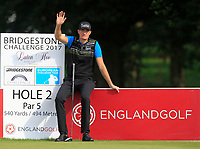 Sebastian Heisele (GER) on the 2nd tee during Round 1 of the Bridgestone Challenge 2017 at the Luton Hoo Hotel Golf &amp; Spa, Luton, Bedfordshire, England. 07/09/2017<br /> Picture: Golffile | Thos Caffrey<br /> <br /> <br /> All photo usage must carry mandatory copyright credit     (&copy; Golffile | Thos Caffrey)