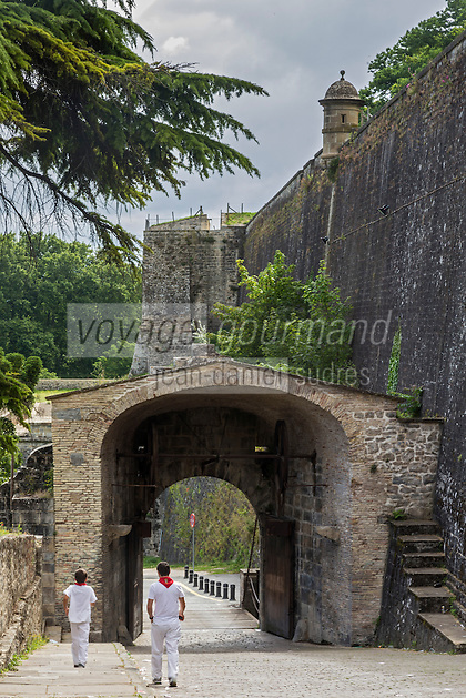 Espagne, Navarre, Pampelune: Remparts de Pampelune,Bastion du Rédin et Porte de France //  Spain, Navarre, Pamplona:  City Walls of Pamplona,Bastion of El Redín, Gateway of France