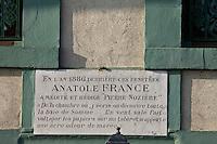 Europe/France/Picardie/80/Somme/Baie de Somme/ Saint-Valéry-sur-Somme: La maison où résida Anatole France.