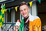 Jordan Lee returns to Killarney with his bronze medal he won at the European Para Athletics  Championships in Berlin on Monday evening