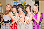 STYLE: What style at the Green Debs in the Abbey Gate Hotel, Tralee on Saturday night, L-r: Anna Hayes, Aisling Collins, Claire Slattery,Eimear Collins and Mairead O'Mahony.......... . ............................... ..........