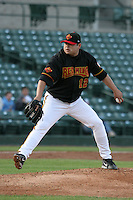Rochester Red Wings Dennys Reyes during an International League game at Frontier Field on April 17, 2006 in Rochester, New York.  (Mike Janes/Four Seam Images)