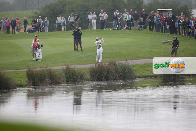 Thongchai Jaidee (THA) gets going placing the ball inches from the pin on the 14th during Round Three of the ISPS Handa Wales Open 2014 from the Celtic Manor Resort, Newport, South Wales. Picture:  David Lloyd / www.golffile.ie