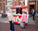 Street stall selling the Star local evening newspaper, Ipswich, Suffolk, England, UK