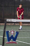 April 23, 2015; San Diego, CA, USA; Loyola Marymount Lions tennis player Joat Farah during the WCC Tennis Championships at Barnes Tennis Center.