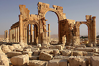 The Monumental Arch, Built under the reign of Septimius Severus (193 - 211 AD), Palmyra, Syria Picture by Manuel Cohen