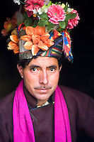 Man wearing flowers