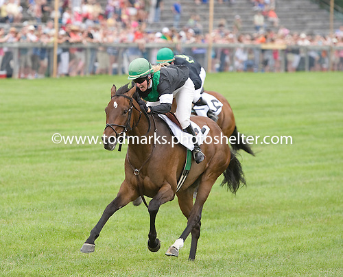 Brittney Trimble shows the boys how it's done, as Wheels Up wins a flat race at Fair Hill.