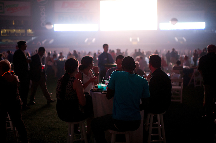 UNITED STATES - AUGUST 26:  Around 10,000 media, business VIPs, and delegates attend the welcome party at theTropicana Field in St. Petersburg before the official start of the 2012 Republican National Convention. (Photo By Chris Maddaloni/CQ Roll Call)