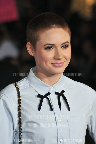 Former Doctor Who star Karen Gillan at the US premiere of &quot;Thor: The Dark World&quot; at the El Capitan Theatre, Hollywood.<br /> November 4, 2013  Los Angeles, CA<br /> Picture: Paul Smith / Featureflash
