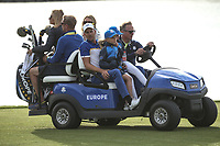Henrik Stenson (Team Europe) en route back to 18th during Sunday's Singles, at the Ryder Cup, Le Golf National, Île-de-France, France. 30/09/2018.<br /> Picture David Lloyd / Golffile.ie<br /> <br /> All photo usage must carry mandatory copyright credit (© Golffile | David Lloyd)