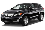 2014-2015 Acura RDX Tech  5 Door SUV angular front stock photos of front three quarter view