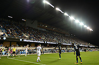 San Jose, CA - Saturday, March 11, 2017: Simon Dawkins, Shaun Francis during a Major League Soccer (MLS) match between the San Jose Earthquakes and the Vancouver Whitecaps FC at Avaya Stadium.