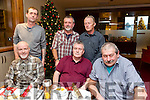 Enjoying the Ballymacelligott Community Employment Scheme Christmas party at Manor West Hotel on Friday. Pictured  Front l-r Maurice Roche, Albert Clancy, John Brosnan, Back l-r Jimmy  Lonegan , Tadhg Kelly, John Foran