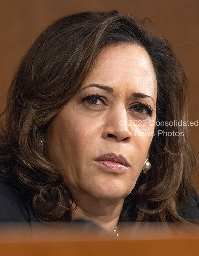 United States Senator Kamala Harris (Democrat of California) listens to the controversy prior to Judge Brett Kavanaugh giving testimony before the United States Senate Judiciary Committee on his nomination as Associate Justice of the US Supreme Court to replace the retiring Justice Anthony Kennedy on Capitol Hill in Washington, DC on Tuesday, September 4, 2018.<br /> Credit: Ron Sachs / CNP<br /> (RESTRICTION: NO New York or New Jersey Newspapers or newspapers within a 75 mile radius of New York City)