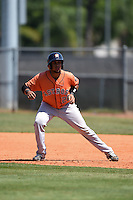 Houston Astros Brian Pena (28) during a minor league spring training game against the Atlanta Braves on March 29, 2015 at the Osceola County Stadium Complex in Kissimmee, Florida.  (Mike Janes/Four Seam Images)