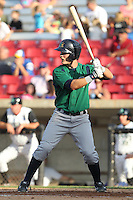 Beloit Snappers first baseman Steven Lidde #13 bats during a game against the Kane County Cougars at Fifth Third Bank Ballpark on June 26, 2012 in Geneva, Illinois. Beloit defeated Kane County 8-0. (Brace Hemmelgarn/Four Seam Images)