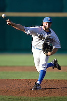 UCLA starting pitcher Gerrit Cole pitches in Game One of the NCAA Division One Men's College World Series Finals on June 28th, 2010 at Johnny Rosenblatt Stadium in Omaha, Nebraska.  (Photo by Andrew Woolley / Four Seam Images)