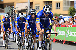 Deceuninck-Quick Step recon Stage 1 of La Vuelta 2019, a team time trial running 13.4km from Salinas de Torrevieja to Torrevieja, Spain. 24th August 2019.<br /> Picture: Eoin Clarke | Cyclefile<br /> <br /> All photos usage must carry mandatory copyright credit (© Cyclefile | Eoin Clarke)