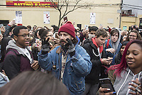 www.acepixs.com<br /> <br /> January 20 2017, New York City<br /> <br /> Shia Labeouf launches his new project 'He will not divide us' outside the Museum of Moving Pictures on January 20, 2017 in New York City. <br /> <br /> By Line: Solar/ACE Pictures<br /> <br /> ACE Pictures Inc<br /> Tel: 6467670430<br /> Email: info@acepixs.com<br /> www.acepixs.com