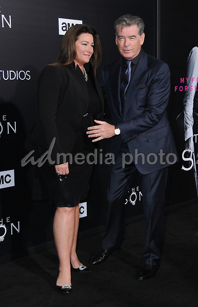 """03 April 2017 - Hollywood, California - Keely Shaye Smith, Pierce Brosnan.  Premiere screening of AMC's """"The Son"""" held at ArcLight Hollywood in Hollywood. Photo Credit: Birdie Thompson/AdMedia"""