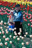 Dutch children in Holland Michigan during the Tulip Festival
