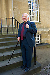 Colin Dexter at Christ Church during the Sunday Times Oxford Literary Festival, UK, 2-10 April 2011.<br />