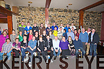 KEY OF THE DOOR: Michael Flavin Ballyduff had a great time at his 21st birthday party with his  parents and brother, family and friends attended his 21st Birthday in Lowe's Bar, Ballyduff on Saturday night.(Michael is seated centre)..........