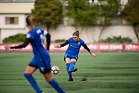 Seattle, WA - Sunday, August 13, 2017: Christine Nairn during a regular season National Women's Soccer League (NWSL) match between the Seattle Reign FC and the North Carolina Courage at Memorial Stadium.