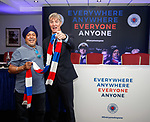 22.07.2019 Rangers launch diversity and inclusion campaign 'Everyone, Anyone'  at Ibrox today> Richard Gough with supporter Chander Singh