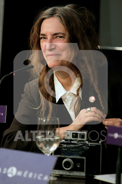 MADRID (26/11/2010).- Patti Smith attended the closing of the XXV Author Week, dedicated to Roberto Bolano. Is her first visit to Spain after winning the National Book Award, the most important literary award after the Pulitzer...Photo: MAC / ALFAQUI.