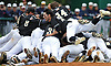 Wantagh teammates celebrate after their 4-2 win over Garden City in Game 3 of the Nassau County varsity baseball Class A final at SUNY Old Westbury on Tuesday, May 30, 2017.
