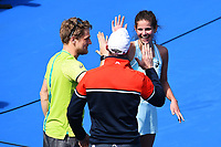 Julia Goerges from Germany with her coaching staff after winning the ASB Classic WTA Women's Tournament Day 7 Singles Final. ASB Tennis Centre, Auckland, New Zealand. Sunday 7 January 2018. ©Copyright Photo: Chris Symes / www.photosport.nz