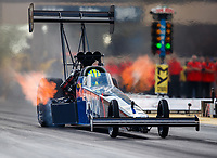 Jul 8, 2017; Joliet, IL, USA; NHRA top fuel driver Blake Alexander during qualifying for the Route 66 Nationals at Route 66 Raceway. Mandatory Credit: Mark J. Rebilas-USA TODAY Sports