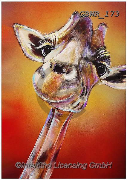 Simon, REALISTIC ANIMALS, REALISTISCHE TIERE, ANIMALES REALISTICOS, innovative, paintings+++++AdamBarsby_SmileHigh,giraffe,,GBWR173,#a#, EVERYDAY