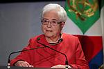 Italy, on January 25, 2020. Italy President, Sergio Mattarella in Trentino for Chiara Lubich. Maria Voce, Presidente dei Focolari,