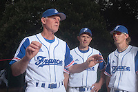 14 July 2010: Assistant coach John Haar, Fabien Proust, and Luc Piquet during day 2 of the Open de Rouen, an international tournament with Team France, Team Saint Martin, Team All Star Elite, at Stade Pierre Rolland, in Rouen, France.