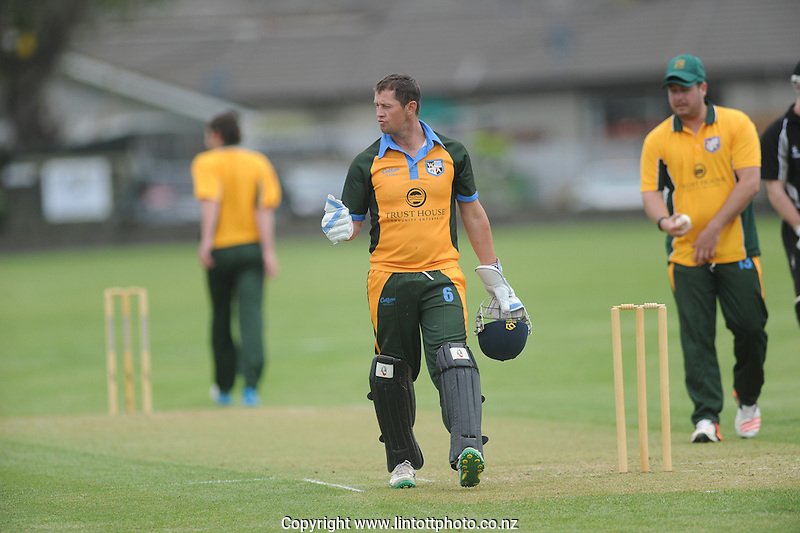 Action from the Chapple Cup cricket match between Hawkes Bay and Wairarapa Bush at Nelson Park in Napier, New Zealand on Friday, 14 October, 2016. Photo: Paul Taylor / lintottphoto.co.nz