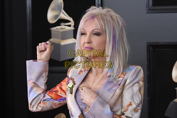 NEW YORK, NY - JANUARY 28: Cyndi Lauper at the 60th Annual GRAMMY Awards at Madison Square Garden on January 28, 2018 in New York City. <br /> CAP/MPI/JP<br /> &copy;JP/MPI/Capital Pictures