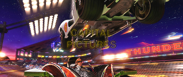EMILE HIRSCH & CHRISTIAN OLIVER.in Speed Racer.*Filmstill - Editorial Use Only*.CAP/FB.Supplied by Capital Pictures.