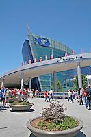 People at Georgia Aquarium in Atlanta Georgia
