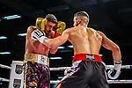 li: Emre Cukur (GER) vs. li: Davide Faraci (ITA) - Super middleweight ; Boxen: ECB ECBOXING am 09.02.2020 in Goeppingen (EWS Arena), Baden-Wuerttemberg, Deutschland.<br /> <br /> Foto © PIX-Sportfotos *** Foto ist honorarpflichtig! *** Auf Anfrage in hoeherer Qualitaet/Aufloesung. Belegexemplar erbeten. Veroeffentlichung ausschliesslich fuer journalistisch-publizistische Zwecke. For editorial use only.