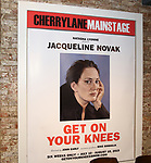 "Theatre Marquee for the Off-Broadway Opening Night of ""Jacqueline Novak: Get On Your Knees"" at the Cherry Lane Theatre on July 22, 2019 in New York City."