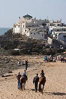 Afrique/Afrique du Nord/Maroc /Casablanca: la Corniche - le Marabout de Sidi Abd Er-Rahman ensemble de tombeaux qui accueile les pélerins